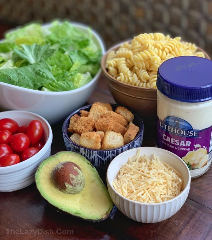 Caesar Pasta Salad Recipe Ingredients