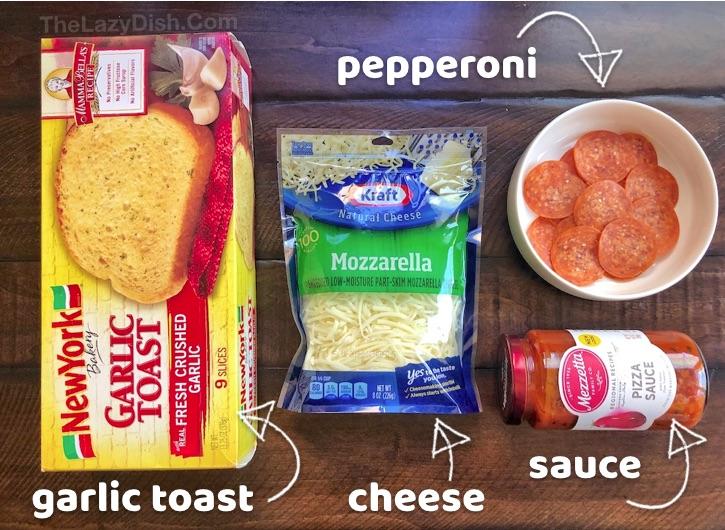 Simple Dinner Idea: Garlic Toast Pizza Recipe