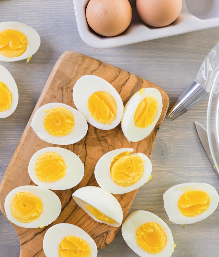 Tips and Tricks on how to boil eggs for easy peel removal.