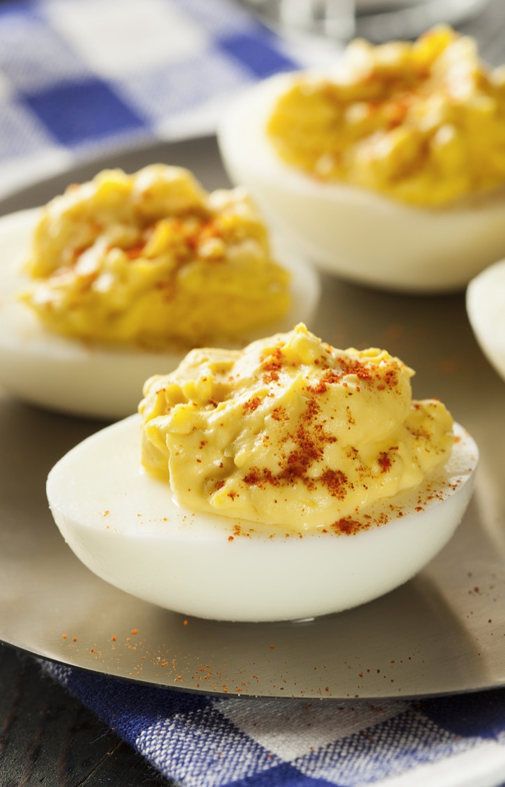 The BEST Simple Deviled Eggs Recipe, Ever! This awesome appetizer idea is made with simple ingredients. Plus lots of tips and tricks on how to boil eggs for easy peel removal.