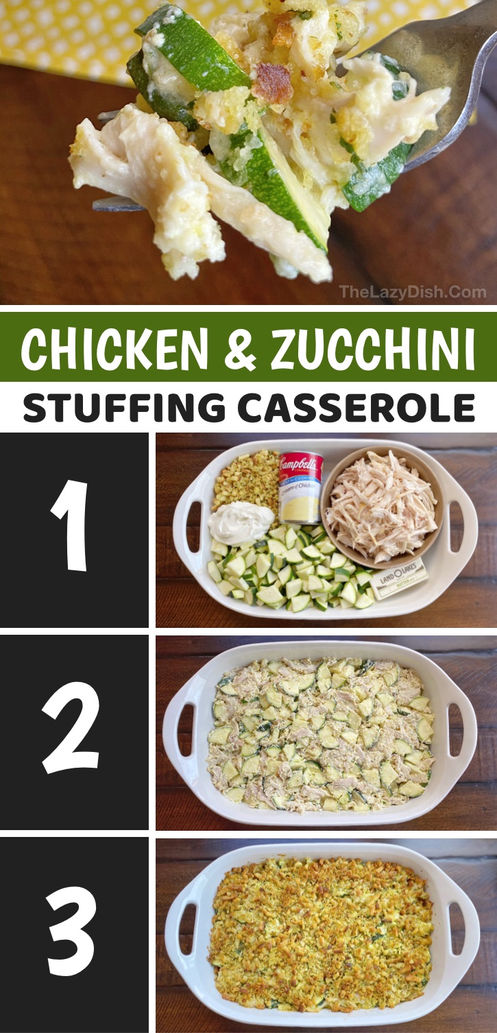 Looking for easy family dinner recipes that your picky eaters will actually eat? This rotisserie chicken casserole is so simple and cheap to make with just a few ingredients including stuffing! It's insanely good. Your entire family, including the kids will enjoy this weeknight meal idea. It's loaded with everything, making it the perfect main dish that doesn't require any sides. Very little prep, basically just dump and bake. It's perfect for a family of 6 but is just as good leftover.