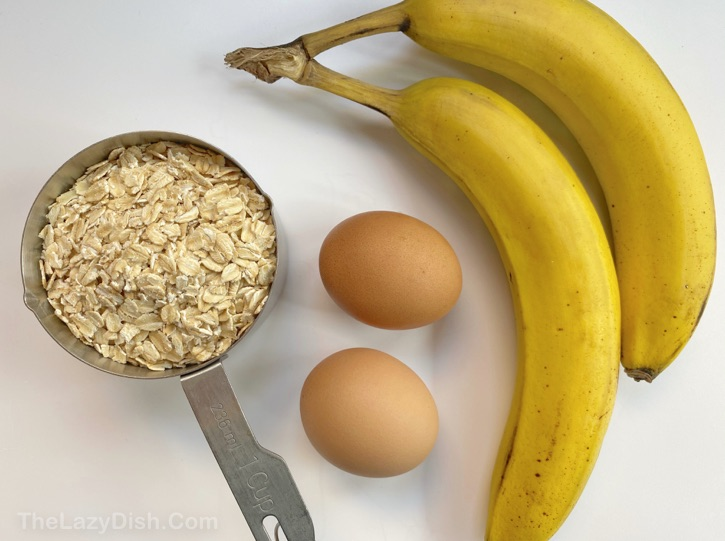 3 Ingredient Banana Oatmeal Pancakes Recipe