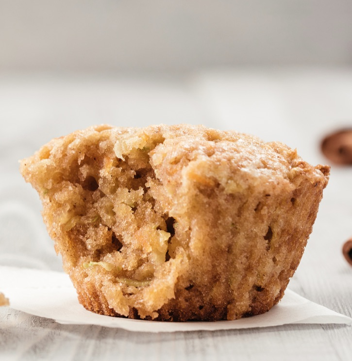 3 Ingredient Cake Mix Apple Spice Muffins Recipe -- A quick and easy snack or breakfast idea! Kids love these simple muffins made with cheap ingredients that you probably already have.