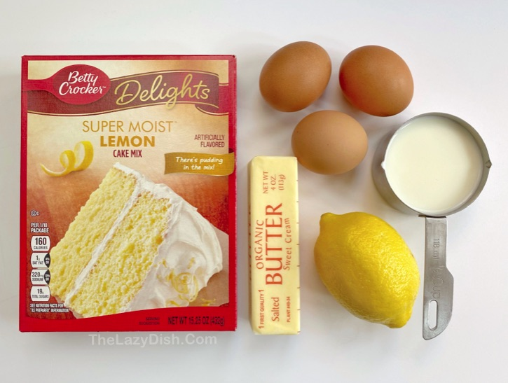 Easy Cake Mix Lemon Muffins Recipe Made with just a few ingredients! Kids love these simple muffins. Toddlers to teens!