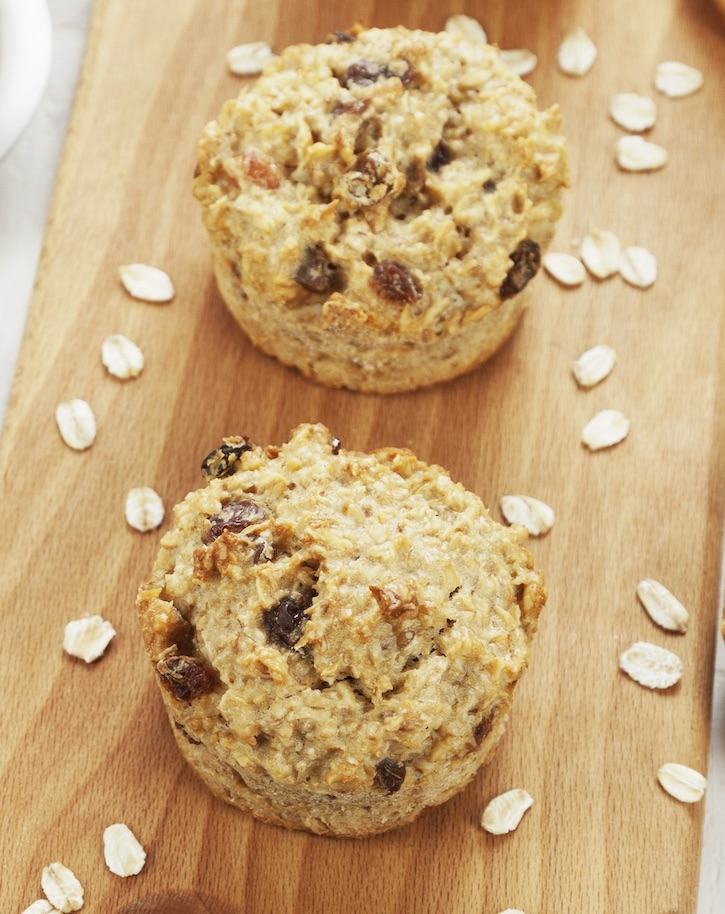 Easy Oatmeal Raisin Muffins Recipe Made With Cake Mix (Your kids will love this quick and easy breakfast or on the go snack idea!)